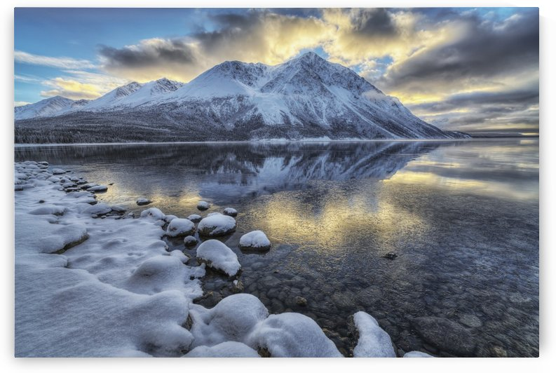 King's Throne and Kathleen Lake at sunset in the Yukon's Kluane National Park; Yukon, Canada by PacificStock