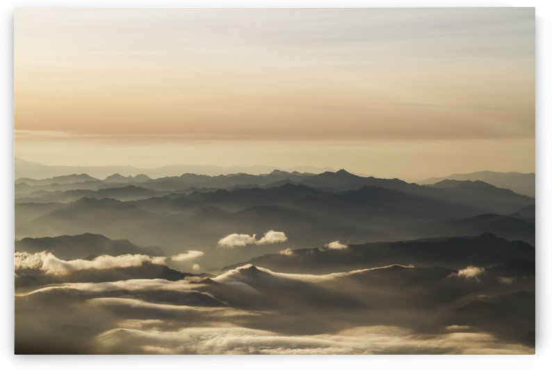 Aerial view of the Andes Mountains at dawn, Ecuador by PacificStock