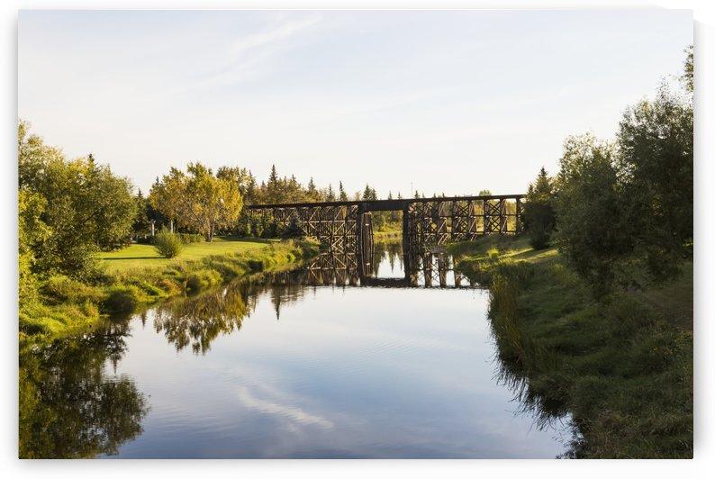 Tressel bridge over Sturgeon River; St. Albert, Alberta, Canada by PacificStock