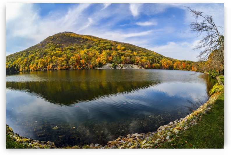 Autumn foliage at Hessian Lake, Bear Mountain State Park; Bear Mountain, New York, United States of America by PacificStock