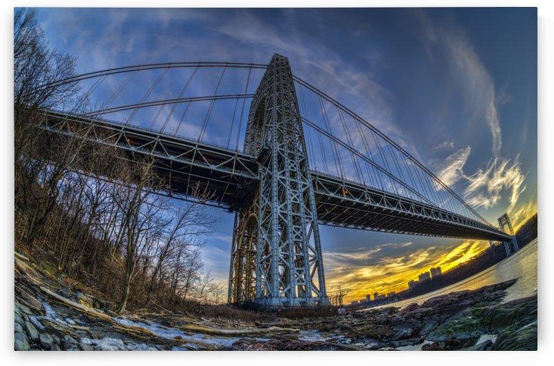 George Washington bridge at sunset, Fort Washington Park; New York City, New York, United States of America by PacificStock