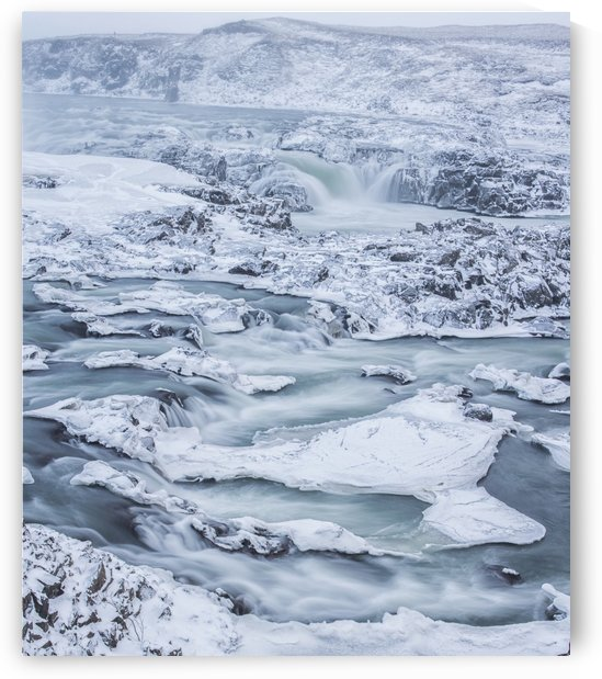 Urrioafoss, a waterfall in southern Iceland lies just off the Ring Road; Iceland by PacificStock