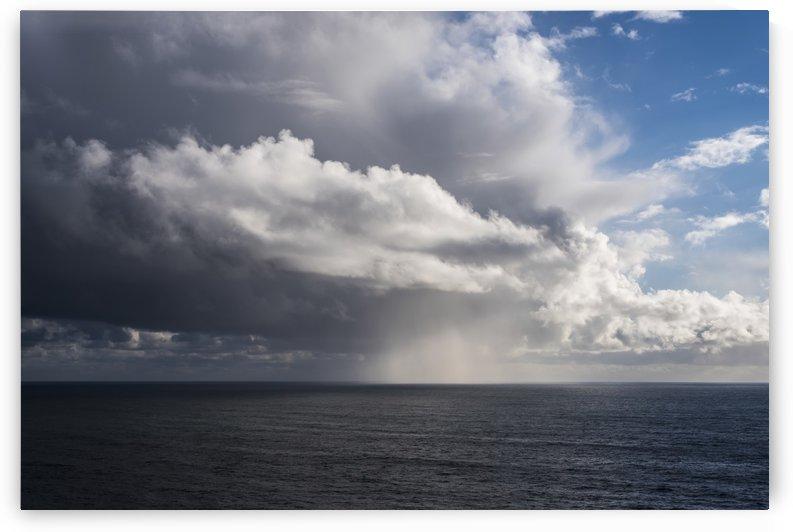 Rain falls off the coast; Manzanita, Oregon, United States of America by PacificStock