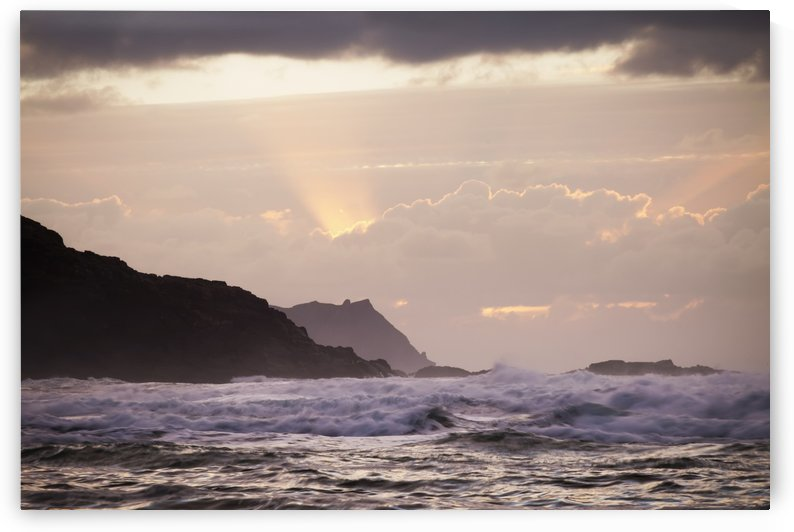 Sunset over the Donegal Coastline; County Donegal, Ireland by PacificStock