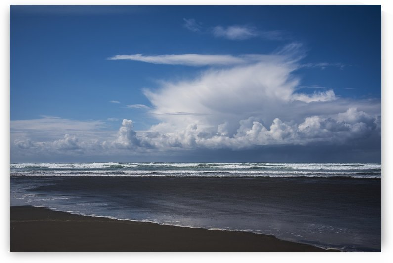 A rain shower passes near the beach; Seaside, Oregon, United States of America by PacificStock