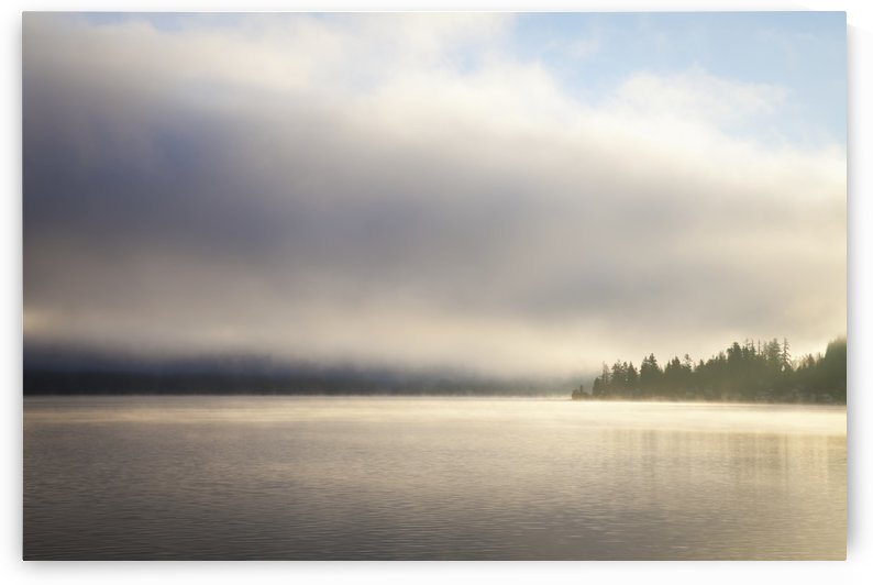 Low cloud and mist on Lake Whatcom at sunrise; Bellingham, Washington, United States of America by PacificStock