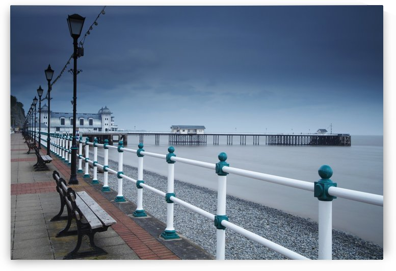 Promenade and pier in Penarth town outside Cardiff in South Wales; Penarth, Wales by PacificStock