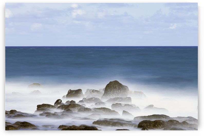 Long exposure surf along the Kealia Beach; Kapaa, Kauai, Hawaii, United States of America by PacificStock