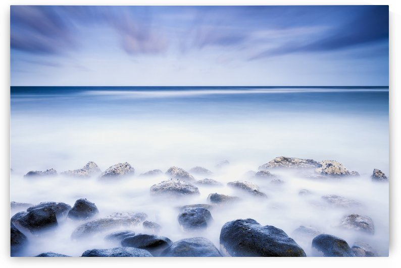 Long exposure of the surf along Wailua Beach; Wailua, Kauai, Hawaii, United States of America by PacificStock