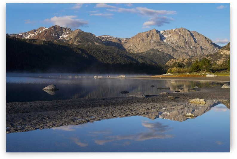 Scenic view of June Lake at sunrise in Mono Basin in the Eastern Sierras; California, United States of America by PacificStock
