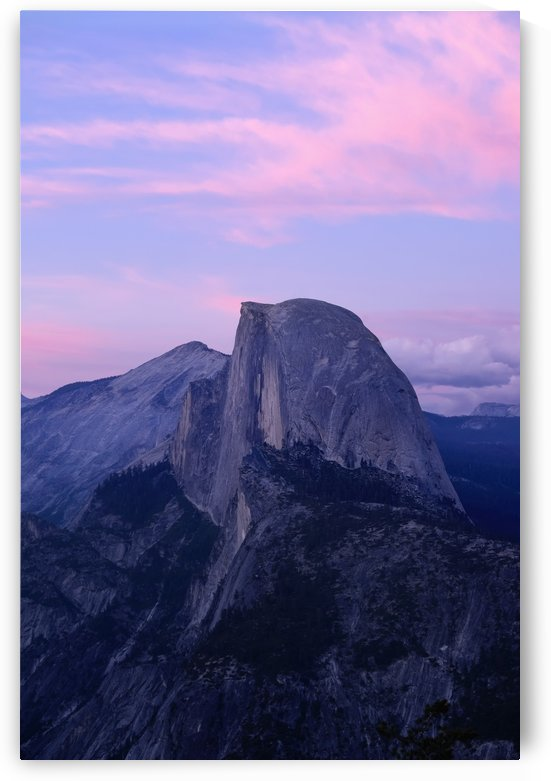 Sunset on Half Dome as seen from Glacier Point, Yosemite National Park; California, United States of America by PacificStock