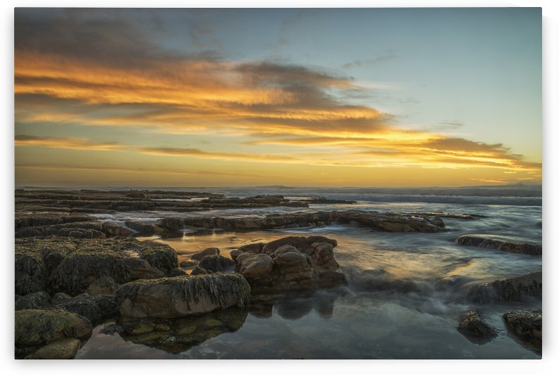 Sunset over the ocean near the city of Cape Town; South Africa by PacificStock