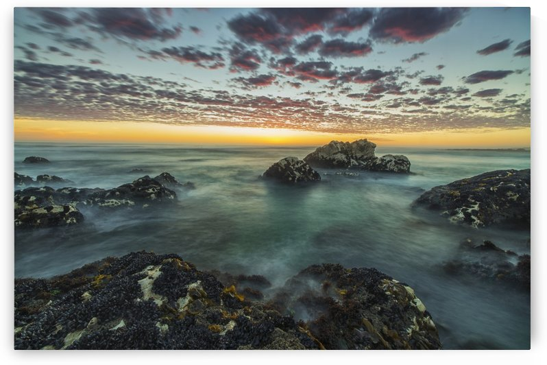 Red clouds of sunset over the ocean along the coast of South Africa near Hondeklip Bay; Namakwa, South Africa by PacificStock