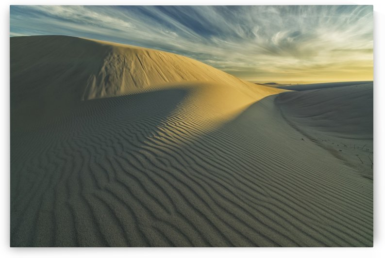 Sunset over the white sand desert in Namakwa National Park; South Africa by PacificStock