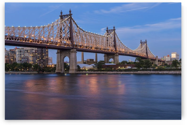 Queensboro (59th Street) Bridge at twilight; Queens, New York, United States of America by PacificStock