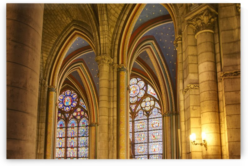 Gothic arches in cathedral Notre-Dame; Paris, France by PacificStock