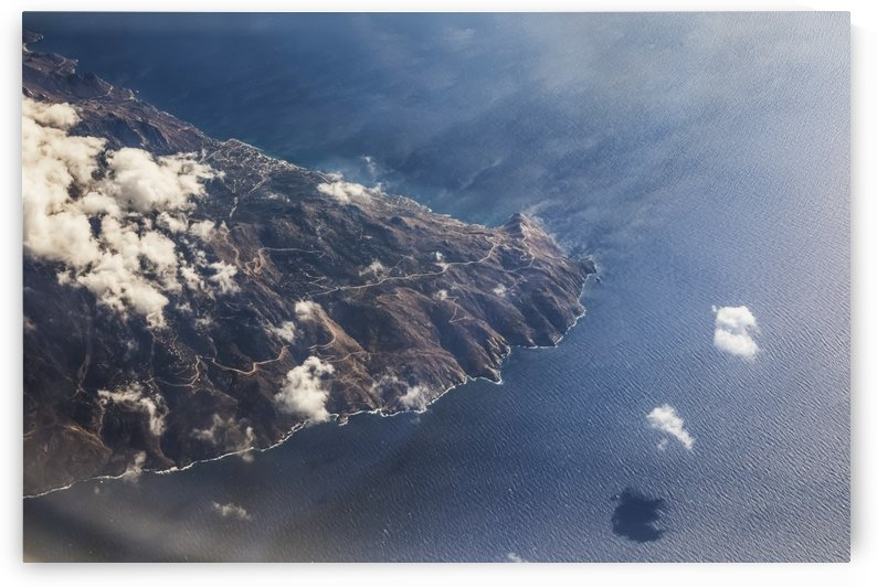 Aerial view of the Greece coastline; Greece by PacificStock