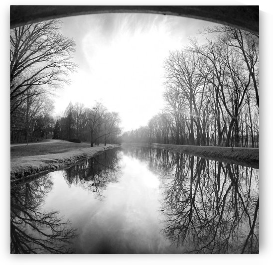 The Canal, Black and White by Clare Kathleen Cornelius