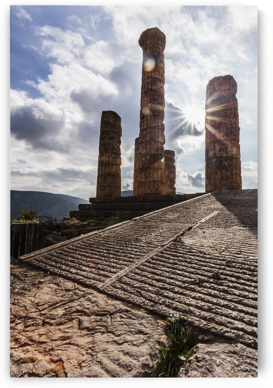 Temple of Apollo; Delphi, Greece by PacificStock