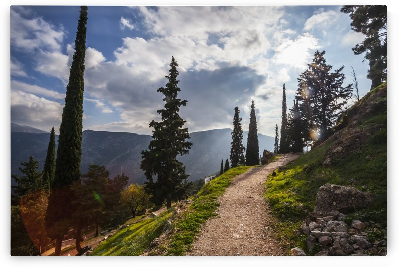 Walking path on Mount Parnassus; Delphi, Greece by PacificStock