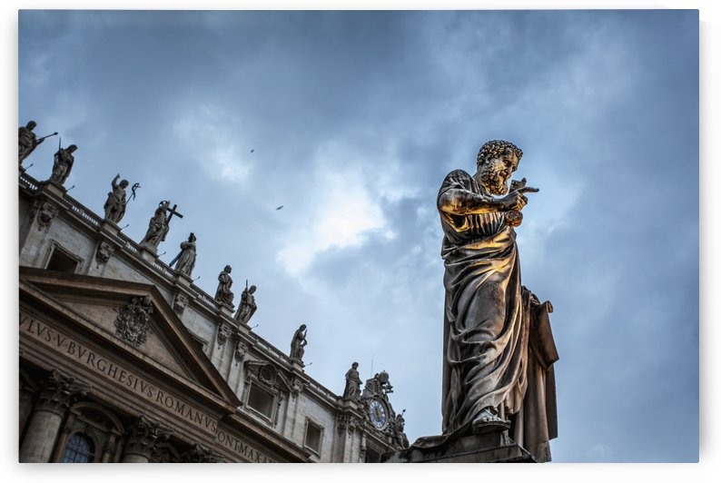 Statue of Peter at Saint Peter's Basilica; Rome, Italy by PacificStock