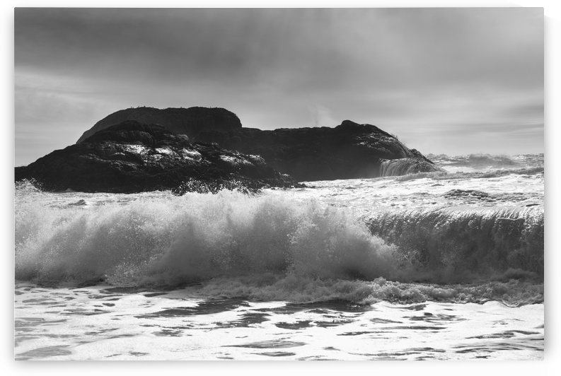 Waves rolling into shore; Tofino, British Columbia, Canada by PacificStock