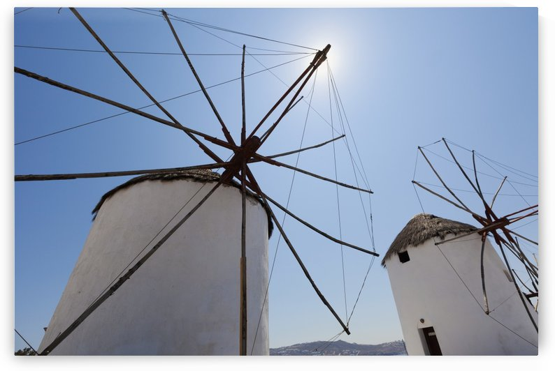Traditional windmills; Chora, Mykonos, Greece by PacificStock