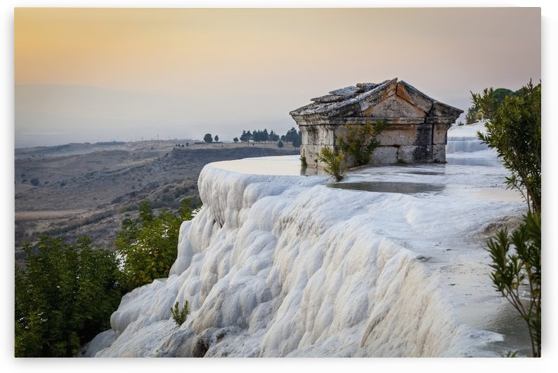 Tomb submerged in a travertine pool in Hierapolis; Pamukkale, Turkey by PacificStock