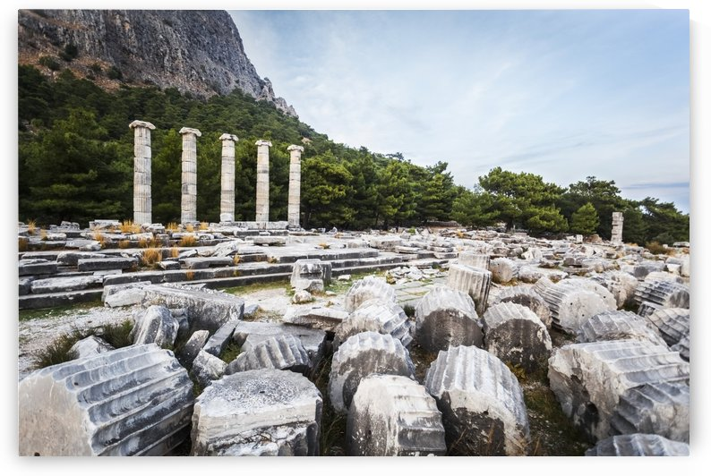 Ruins of the Sanctuary of Athena; Priene, Turkey by PacificStock