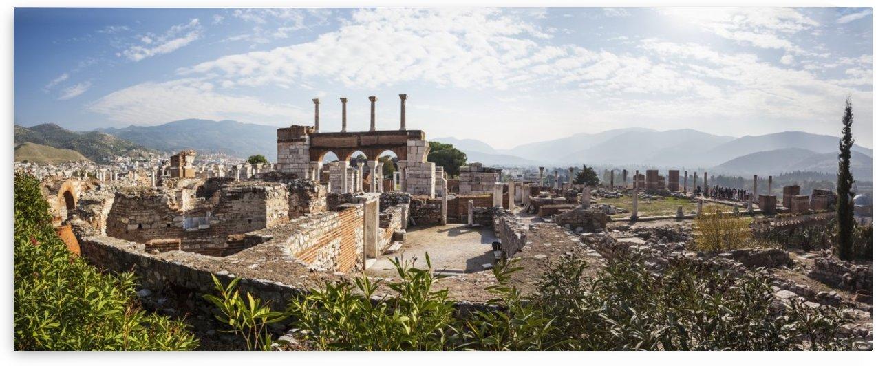 Ruins of Saint John's Basilica and the tomb of Saint John; Ephesus, Izmir, Turkey by PacificStock