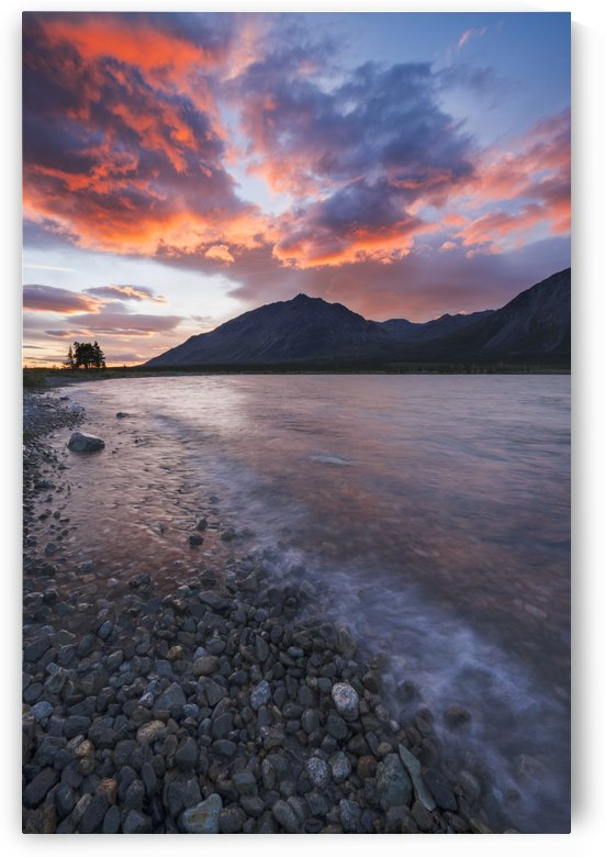 Colors of sunset fill the sky over upper Twin Lake in Lake Clark National Park & Preserve, Alaska. by PacificStock