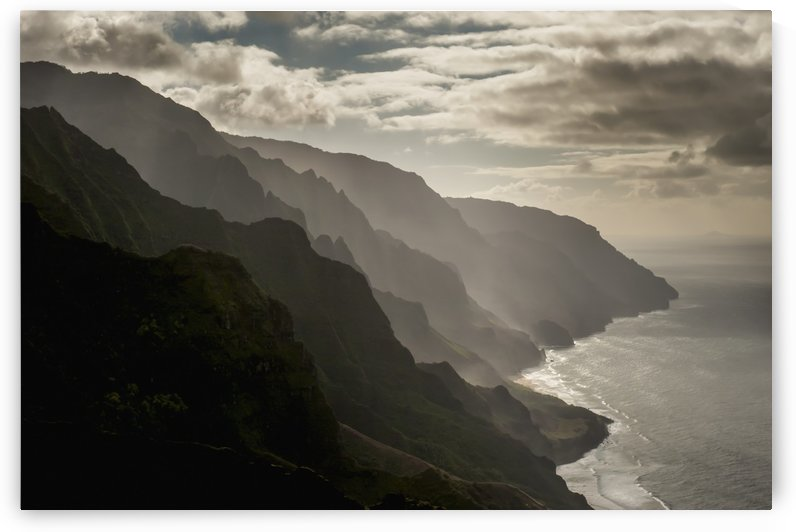 Late afternoon view of the Na Pali Coast; Kauai, Hawaii, United States of America by PacificStock