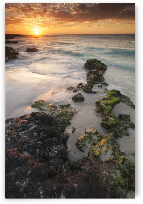 Sunset on the Kona-Kailoa Coast of Hawaii; Kona, Island of Hawaii, Hawaii, United States of America by PacificStock