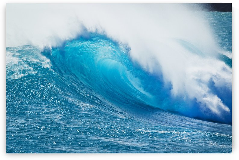 Beautiful Blue Ocean Wave by PacificStock