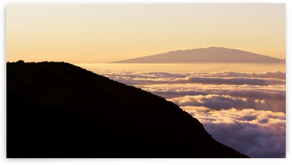 Mountain Top above the Clouds by PacificStock