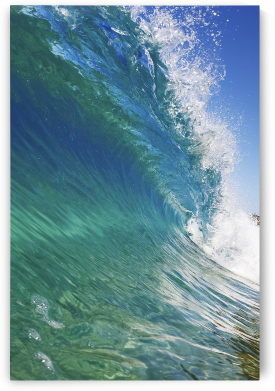 Blue Ocean Wave, View from in the Water by PacificStock