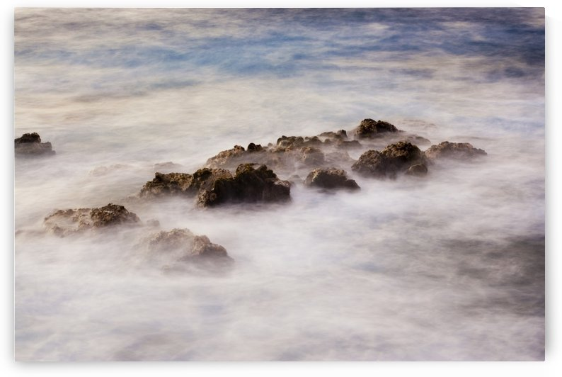 Ocean at sunrise, long exposure, blurred water by PacificStock