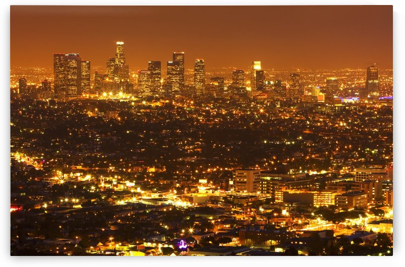 Los Angeles, Urban City at Sunset by PacificStock