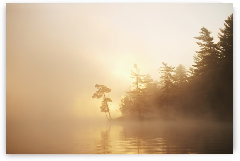 Sunrise on the Severn River at the mouth of Wood Bay; Ontario, Canada by PacificStock