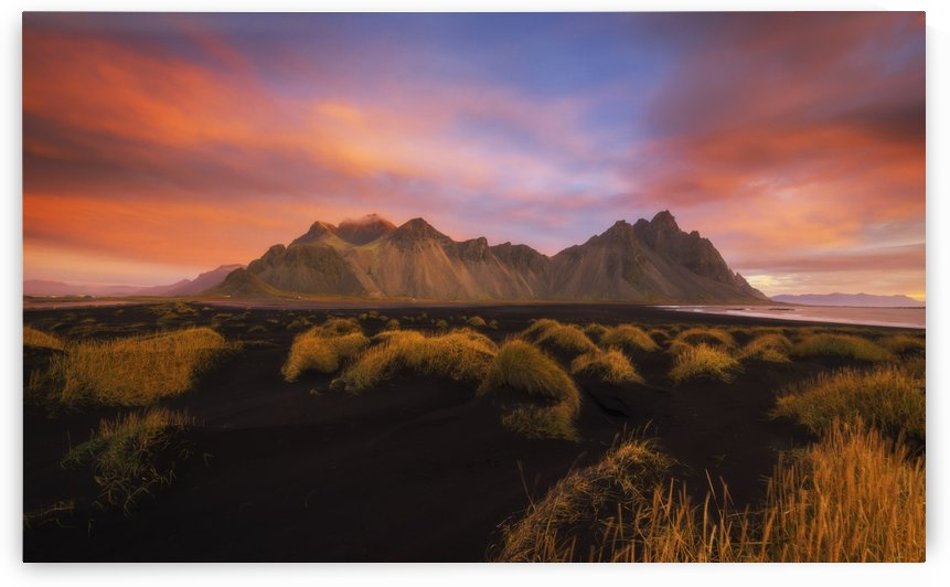 Vestrahorn at sunrise, near the town of Hofn in southeastern Iceland; Iceland by PacificStock