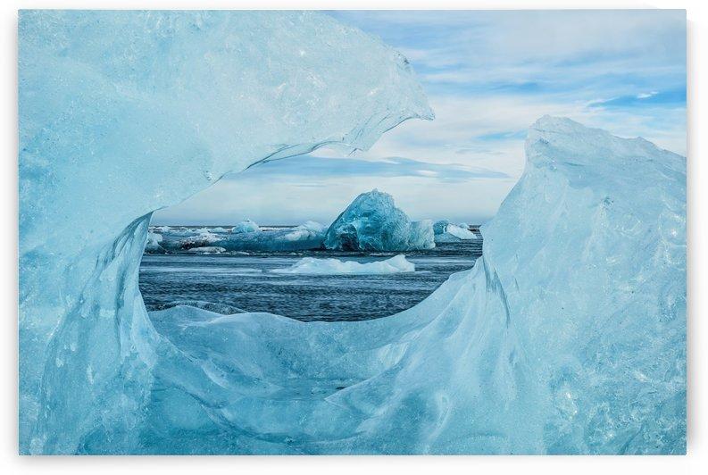 Icebergs on the southern beach near the ice lagoon of Jokursarlon; Iceland by PacificStock