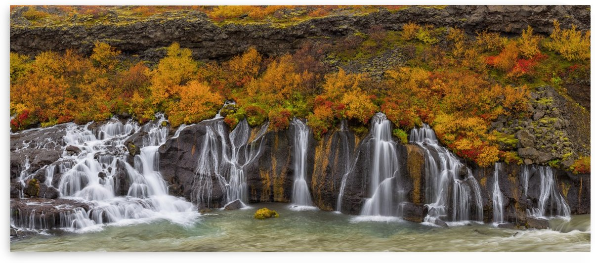 Hraunfossar waterfall; Iceland by PacificStock