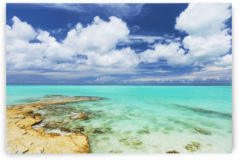 Tropical White Sand Beach and Sea In the Turks and Caicos Islands by PacificStock
