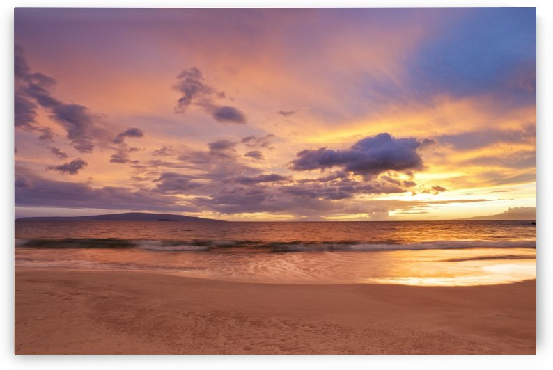 Sunset on Hawaii Beach by PacificStock