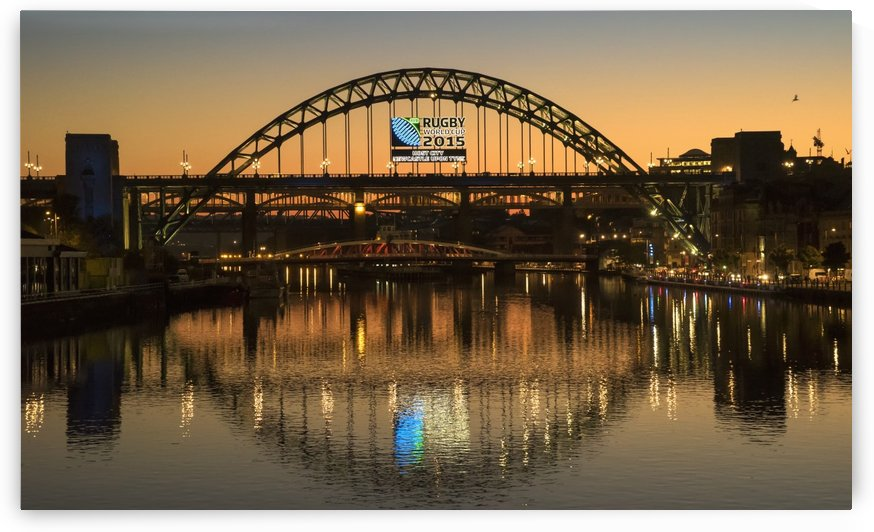 Tyne Bridge over River Tyne at sunset; Newcastle, Tyne and Wear, England by PacificStock