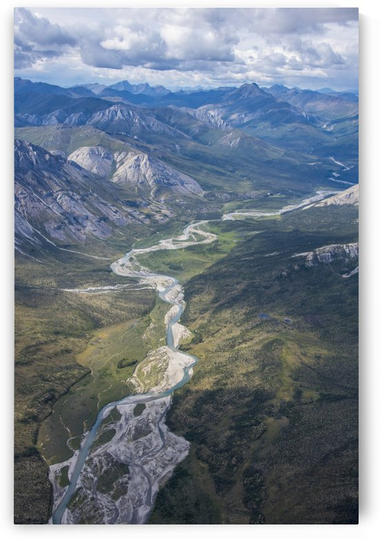 Aerial View of the Brooks Range in summer, ANWR, Alaska by PacificStock