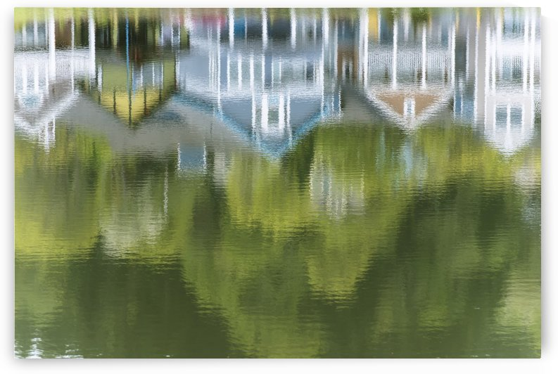 Mill Pond reflects extravagant colour; Astoria, Oregon, United States of America by PacificStock