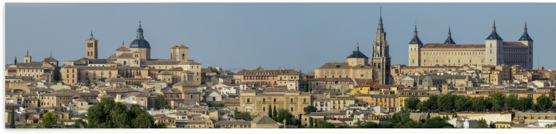 Panorama of the town of Toledo; Toledo, Castile-La Mancha, Spain by PacificStock