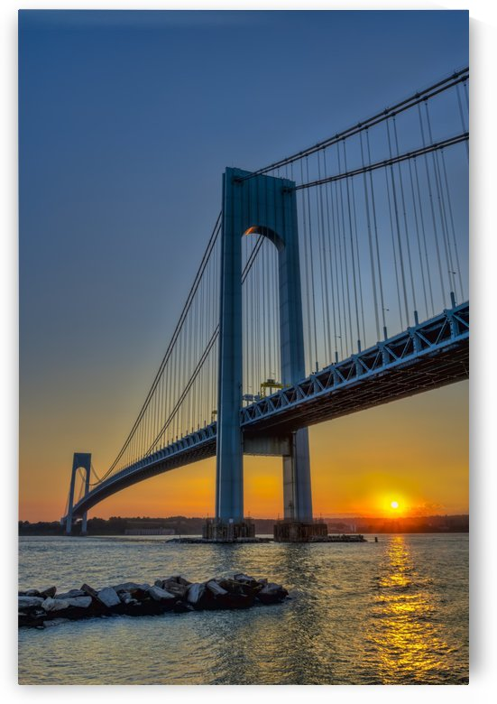 Verrazano-Narrows Bridge at sunset;  Brooklyn, New York, United States of America by PacificStock