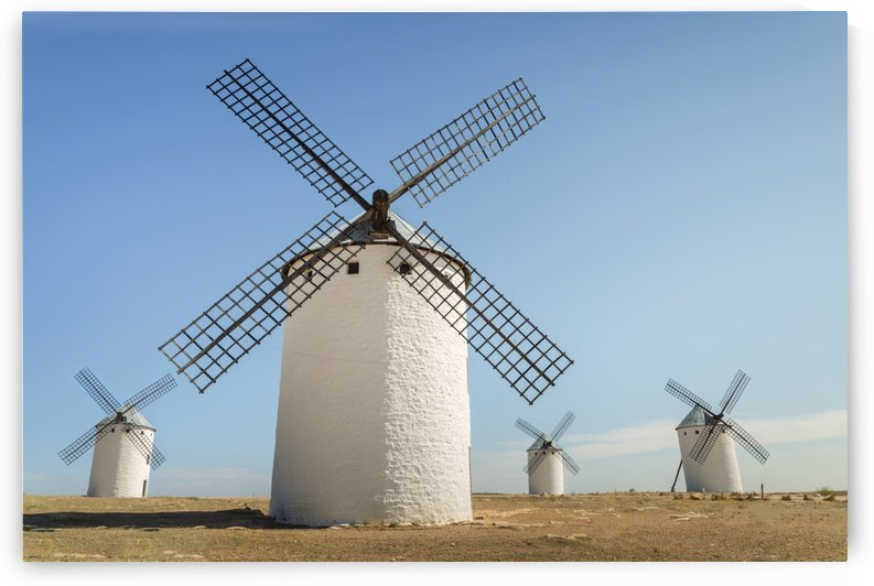Famous windmills in Campo Criptana, where the stories of Don Quixote come from; Ciudad Real, Castilla-La mancha, Spain by PacificStock